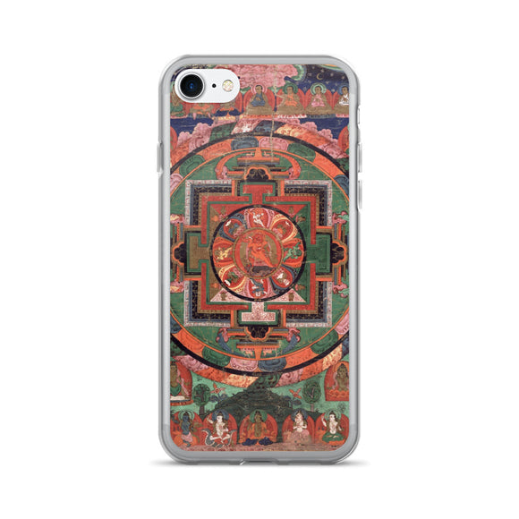 Tibetan Five Deity Mandala iPhone 7/7 Plus Hybrid Case