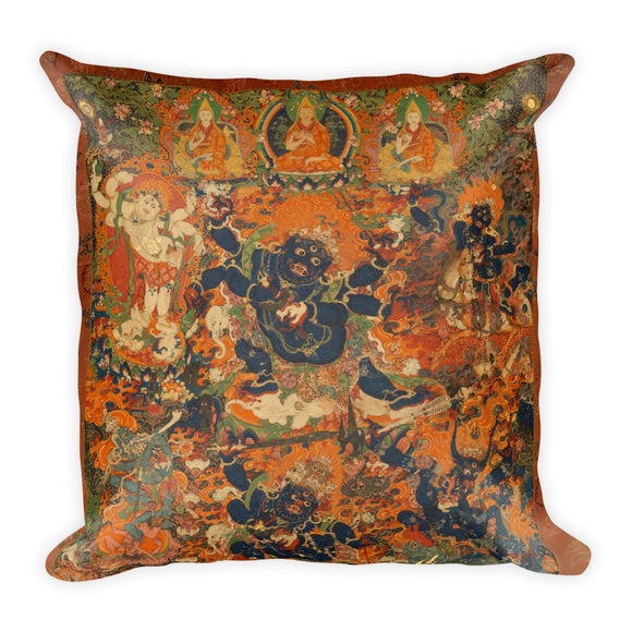 Mahakala Thangka Pillow