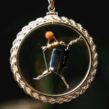 Portal Beta Blocker Amulet in Sterling Silver bezel