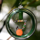 Prosperity CQR Amulet with Sterling Silver dollar-sized, coin-edged bezel