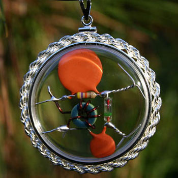 Quantum Wizard Amulet Beta-Blocker CQR - Crystal Quantum Radio™ with real-rope, hand-braided Sterling Silver bezel