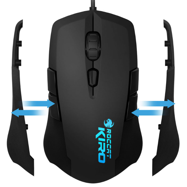 ROCCAT Kiro Modular Ambidextrous 4000DPI Optical Gaming Mouse - gameregion