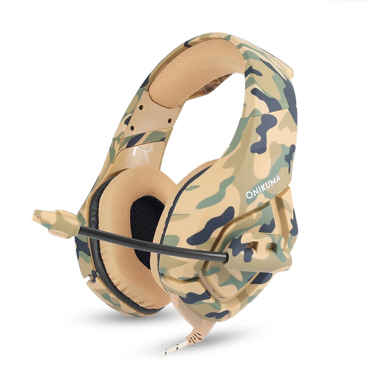 K1 Camouflage PS4 Gaming Headset with Mic Noise Cancelling for pc for Laptop, Mac, Smart Phones, Nintendo Switch, PS4 - gameregion