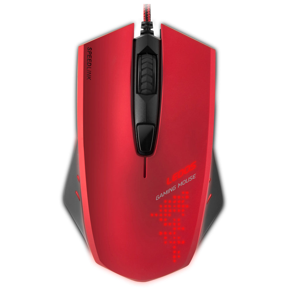 SPEEDLINK Ledos 3000dpi Optical Gaming Mouse, Red - gameregion