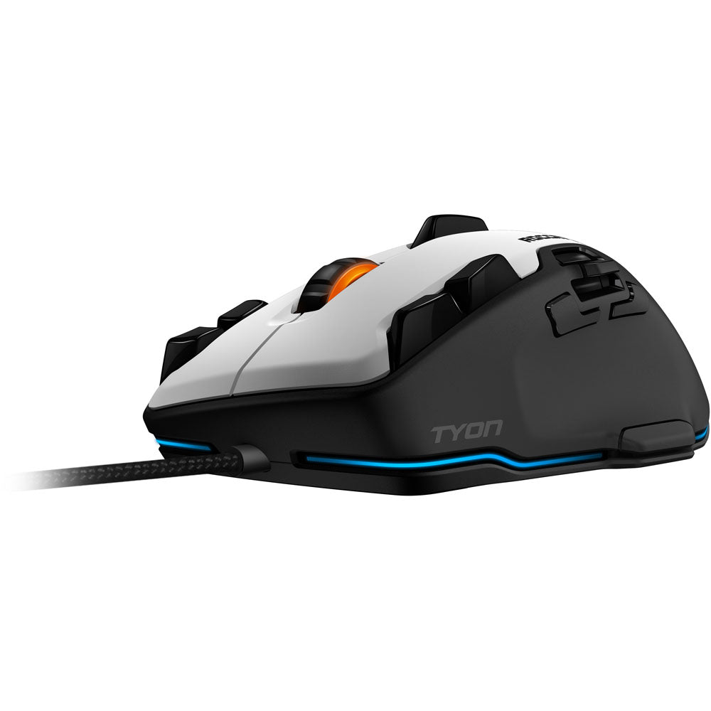 ROCCAT Tyon Multi-Button 8200dpi Laser R3 Sensor USB Gaming Mouse, 1.8m, White - gameregion