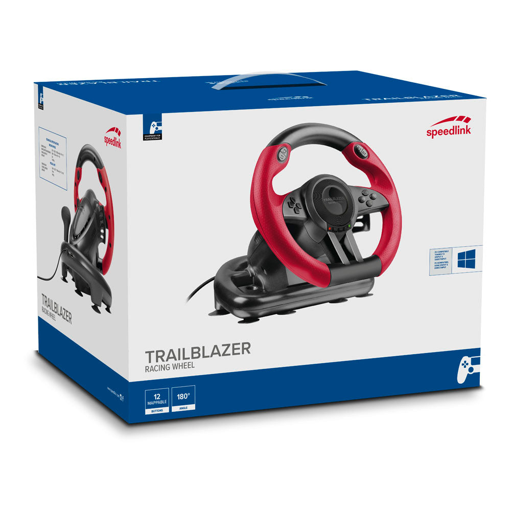 SPEEDLINK Trailblazer Vibration Racing Wheel Black/Red (SL-450500-BK) - gameregion