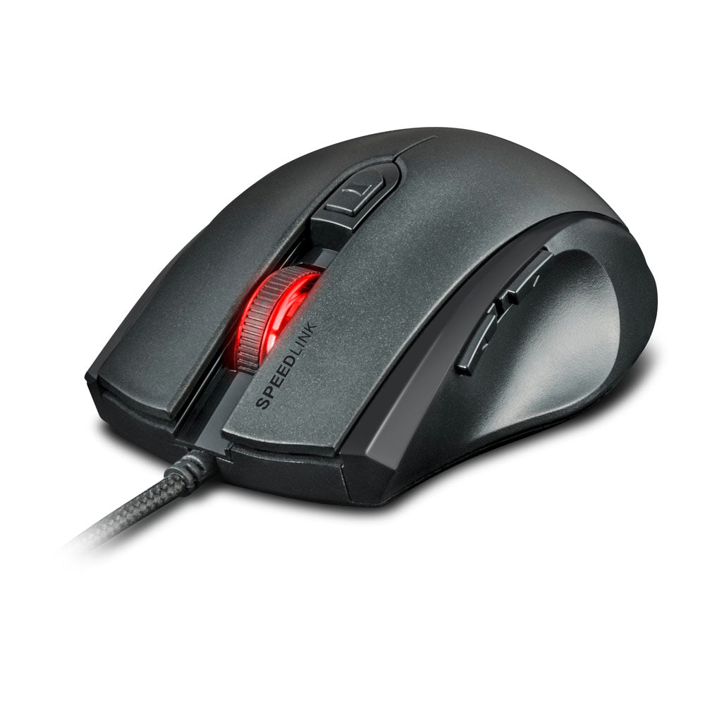 SPEEDLINK Assero 3200dpi Gaming Mouse LED Lighting Effects, Black - gameregion