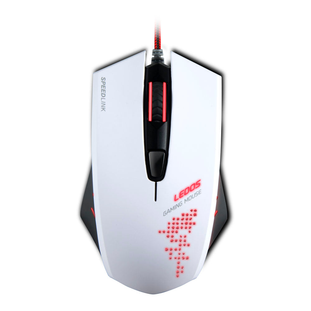 SPEEDLINK Ledos 3000dpi Gaming Mouse with Red LED Illumination, White - gameregion