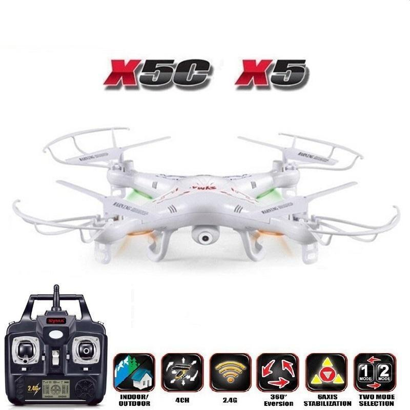 SYMA X5C (Upgrade Version) RC Drone 6-Axis Remote Control Helicopter Quadcopter With 2MP HD Camera or X5 RC Dron No Camera - gameregion