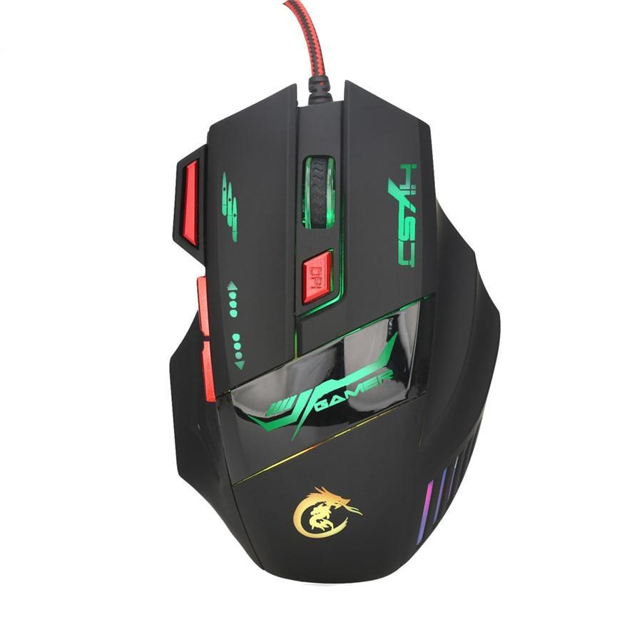 7 Buttons 5500DPI USB Optical Wired Gaming Mouse - gameregion