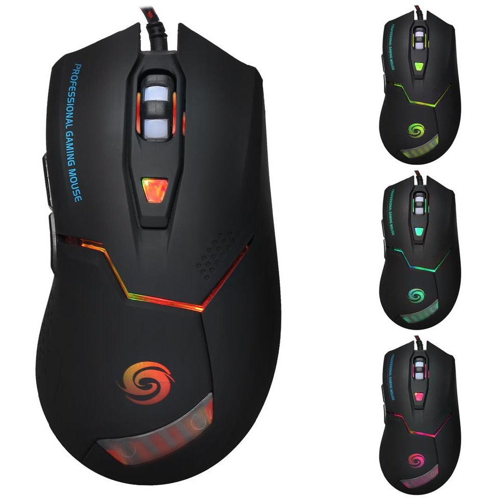 3200DPI USB Wired Gaming Mouse Gamer 6 Buttons - gameregion