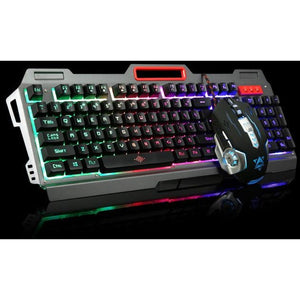 Rainbow Yellow Backlight Gaming Keyboard and Mouse - gameregion