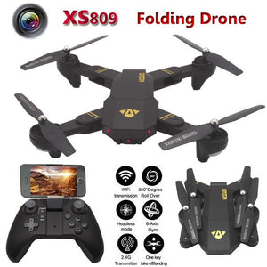 XS809W Fpv Selfie Drones with Camera hd Folding Dron Rc Helicopter One Key Return Quadcopter Headless Remote Control Helicoptero - gameregion