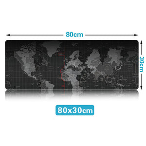 World Map Mouse Pad Large Gaming Mouse Mats for Battlestations - gameregion