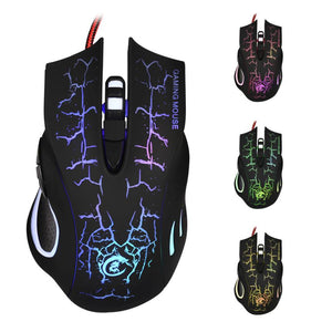 6D LED Optical USB Wired 5500 DPI Game Mouse - gameregion
