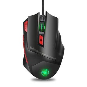 HXSJ Macro 6000 Adjustable DPI Gaming Mouse 9 Buttons - gameregion