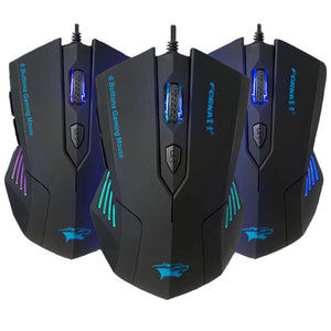 FORKA Silent Click 6 Buttons Wired Gaming Mouse - gameregion