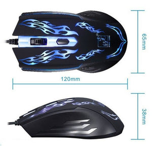 1500DPI LED Optical USB cable Wired Gaming Mouse - gameregion