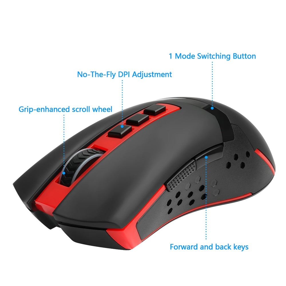 Redragon USB Wireless Gaming Mouse 4800 DPI 9 buttons - gameregion