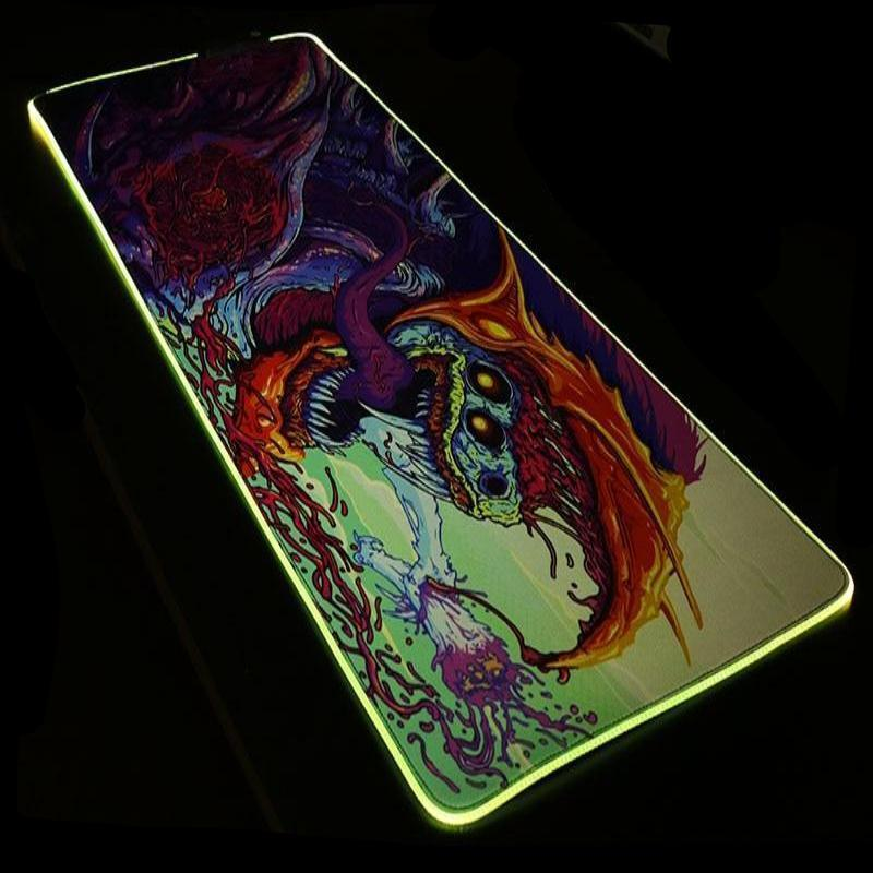 CS:GO Gaming Mouse Mat 800 x 300 Locked RGB Lighting Rubber Anti-slip - gameregion