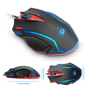 Redragon Gaming Mouse USB 16400 DPI 15 buttons RGB M902 - gameregion