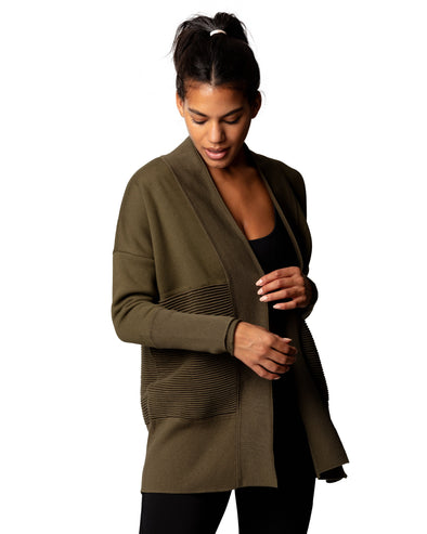 Flipside Fleece Cardigan Military