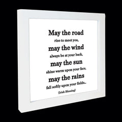 """may the road rise"" card"