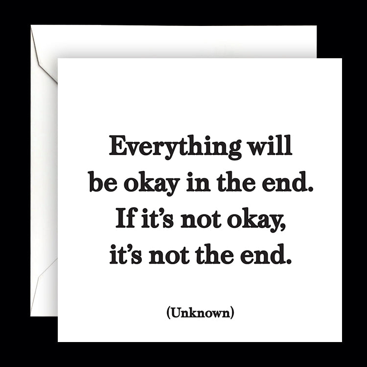 """everything will be okay"" card"