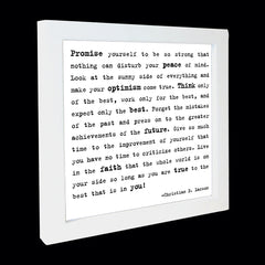 """promise yourself"" card"