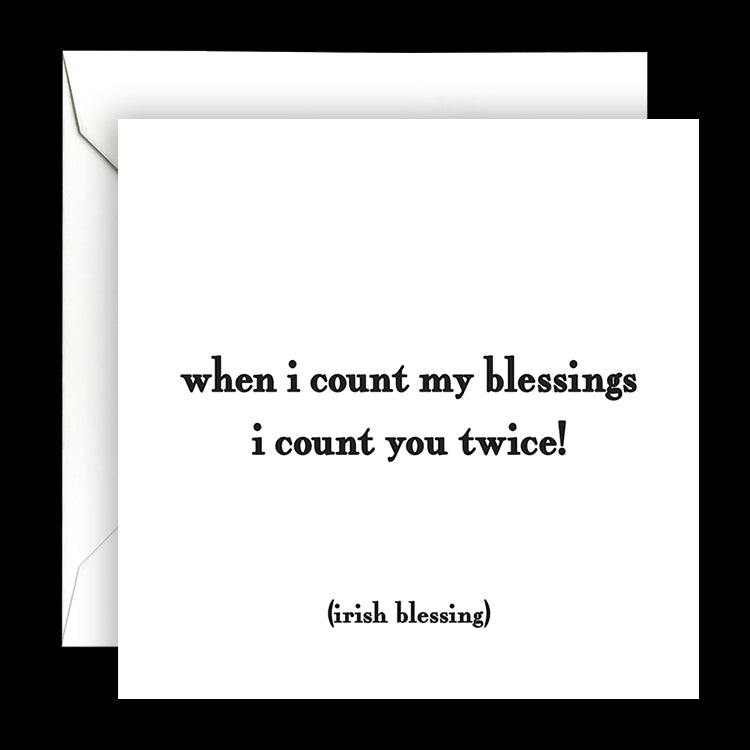 """when i count my blessings"" card"