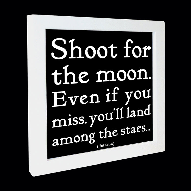 """shoot for the moon"" card"