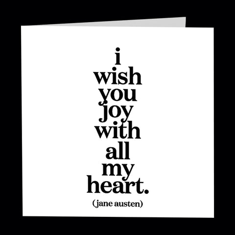 """i wish you joy"" card"