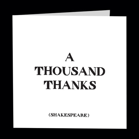 """a thousand thanks"" card"