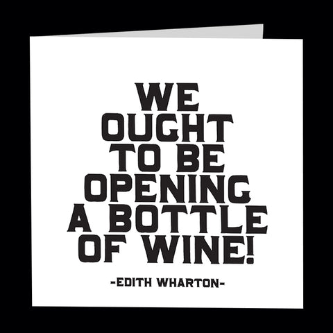 """bottle of wine"" card"
