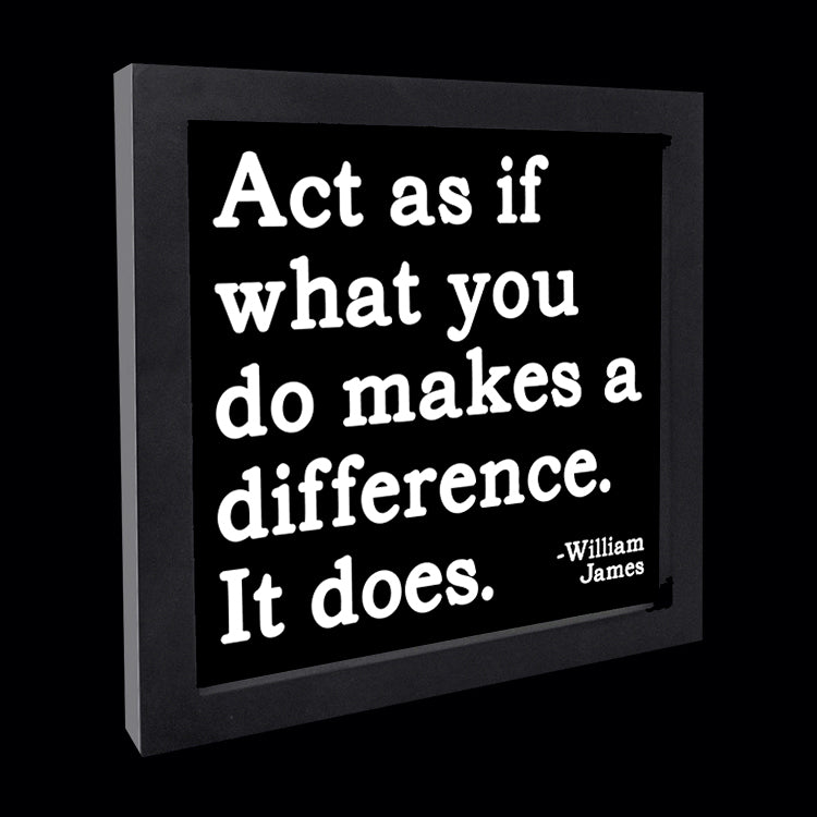 """act as if what you do"" card"