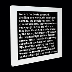 """you are the books you read"" card"