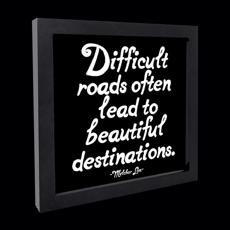 """difficult roads"" card"