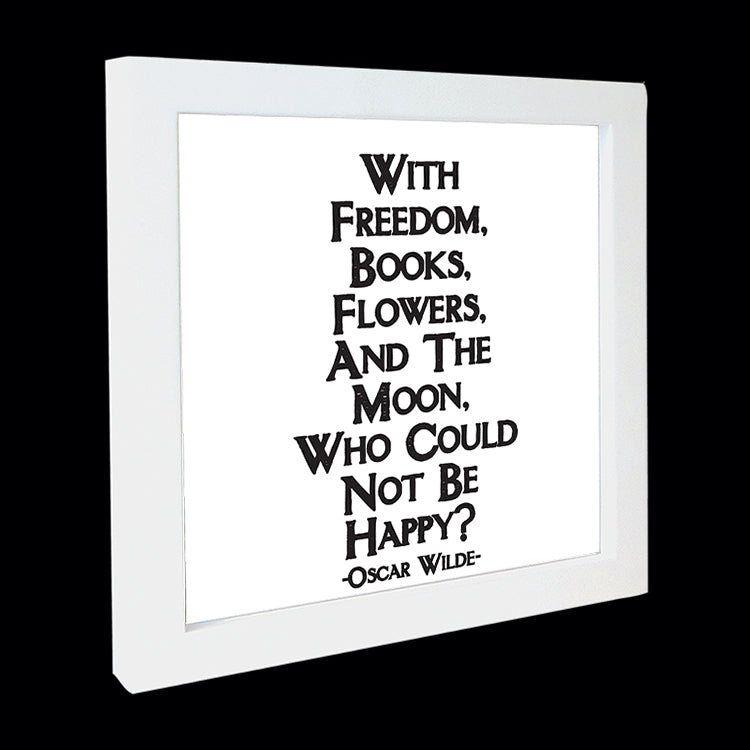 """with freedom, books, flowers"" card"