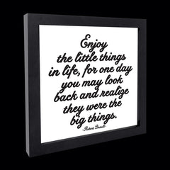 """enjoy the little things"" card"