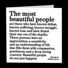 """the most beautiful people"" card"