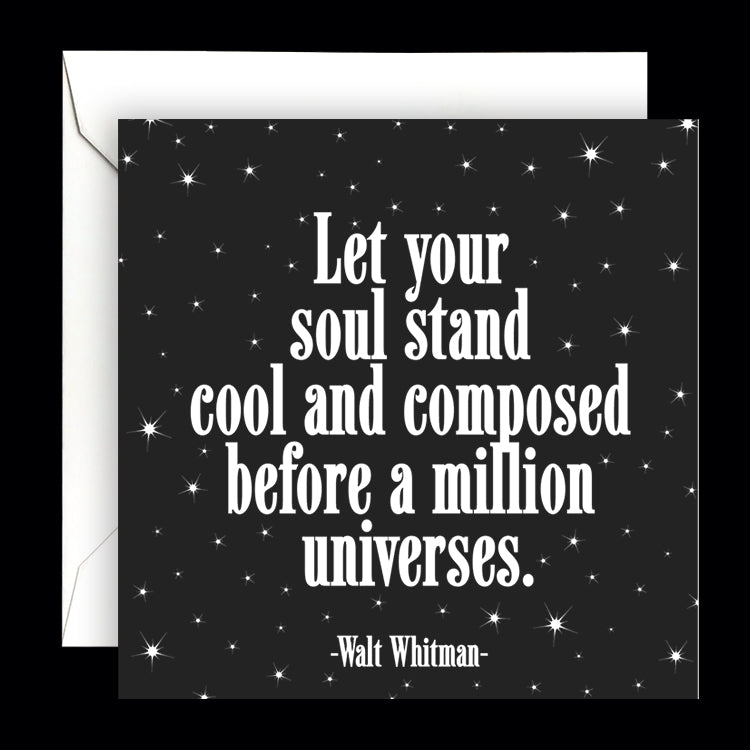 """let your soul stand"" card"