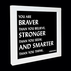 """you are braver, stronger, smarter"" card"