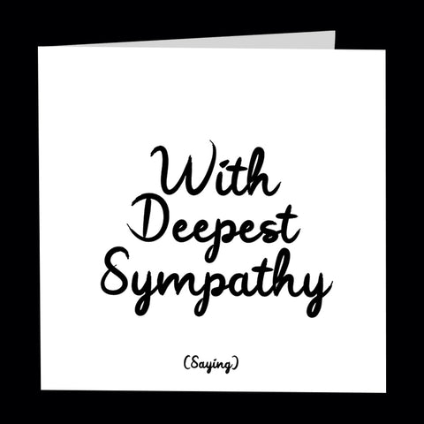 """with deepest sympathy"" card"