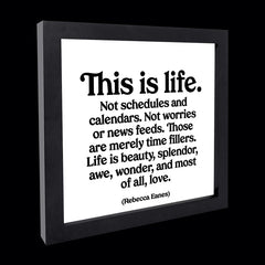 """this is life."" card"