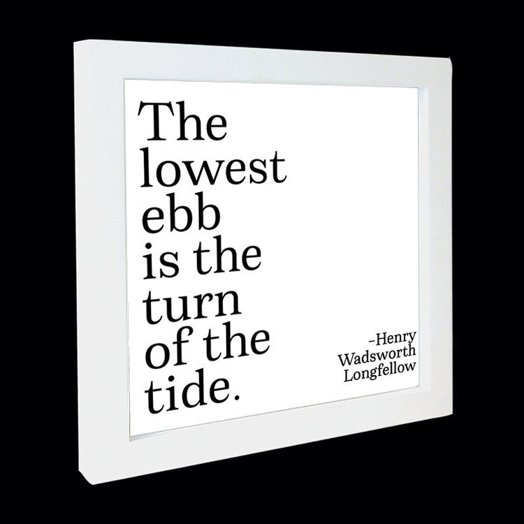 """the lowest ebb"" card"