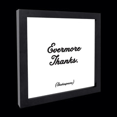 """evermore thanks"" card"