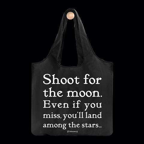 """shoot for the moon"" reusable bag"