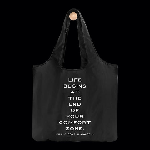 """comfort zone"" reusable bag"