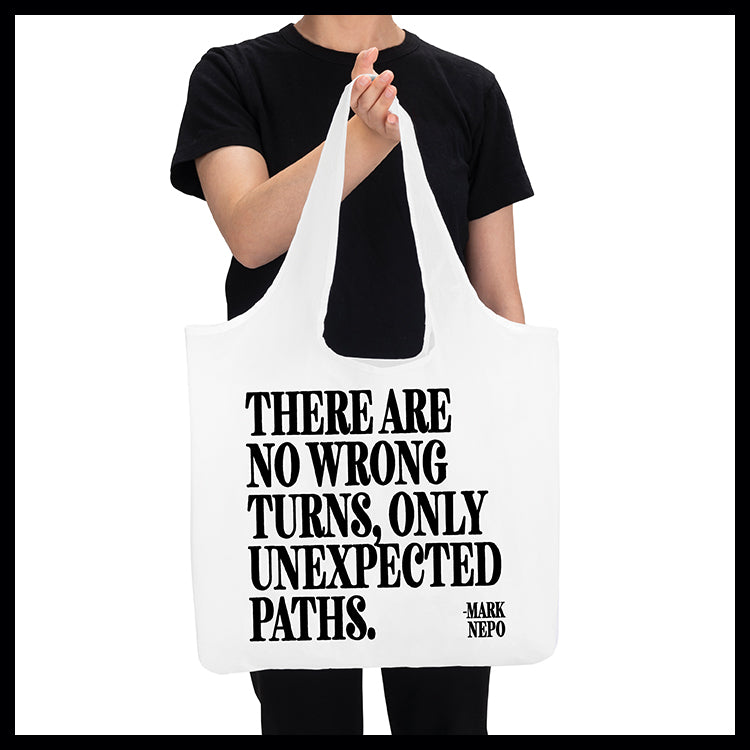 """no wrong turns"" reusable bag"