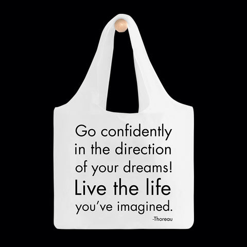 """go confidently"" reusable bag"